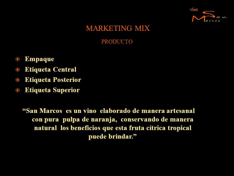 S M Vino an arcos MARKETING MIX Empaque Etiqueta Central