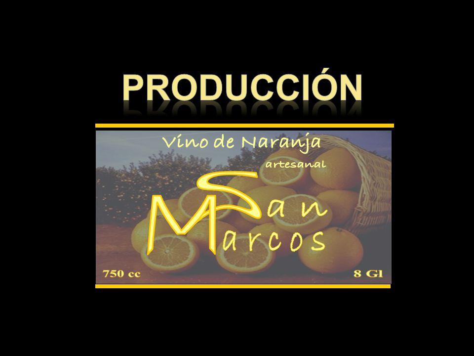 producción 750 cc 8 Gl Vino de Naranja S M an arcos artesanal