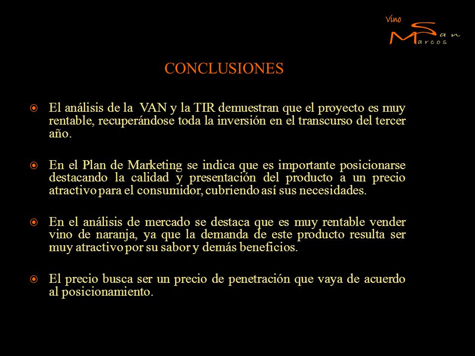 S M Vino an arcos CONCLUSIONES