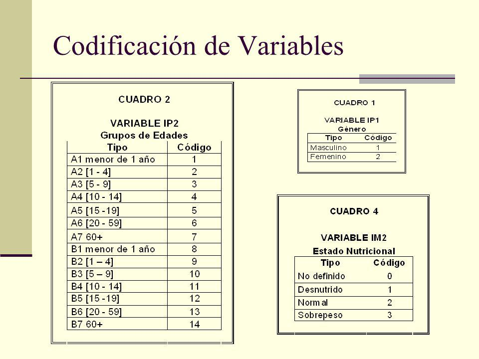 Codificación de Variables