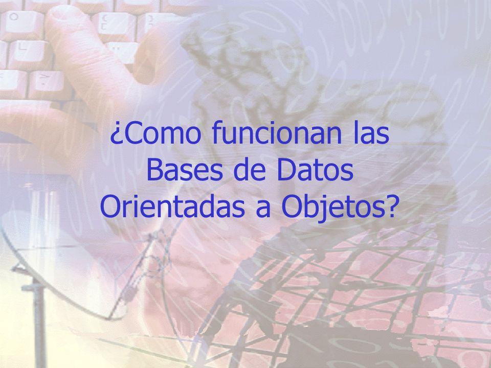 ¿Como funcionan las Bases de Datos Orientadas a Objetos