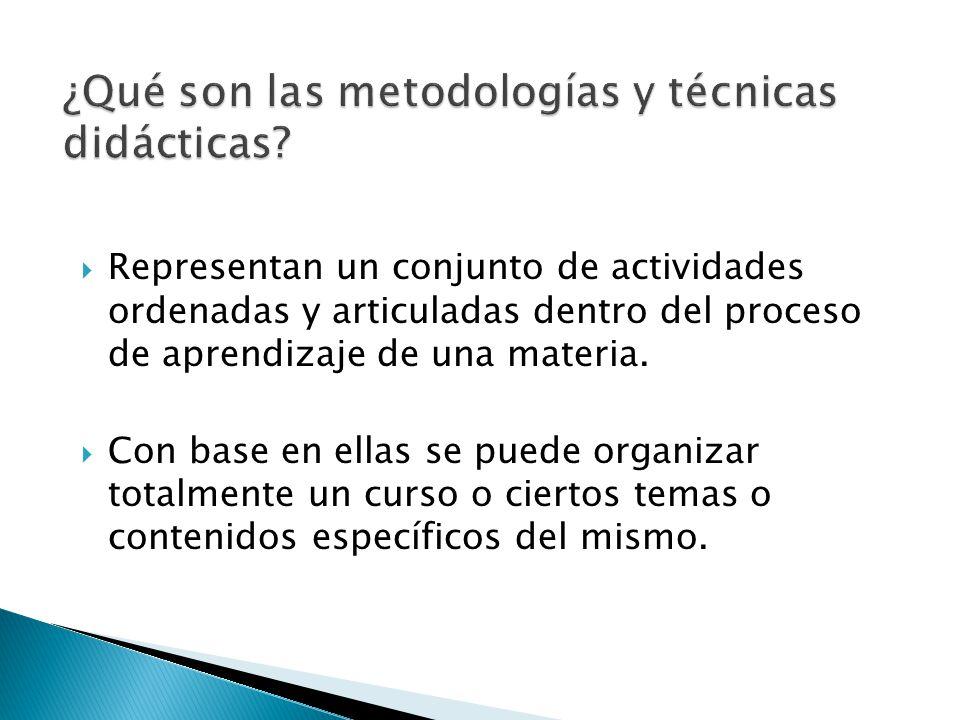 ¿Qué son las metodologías y técnicas didácticas