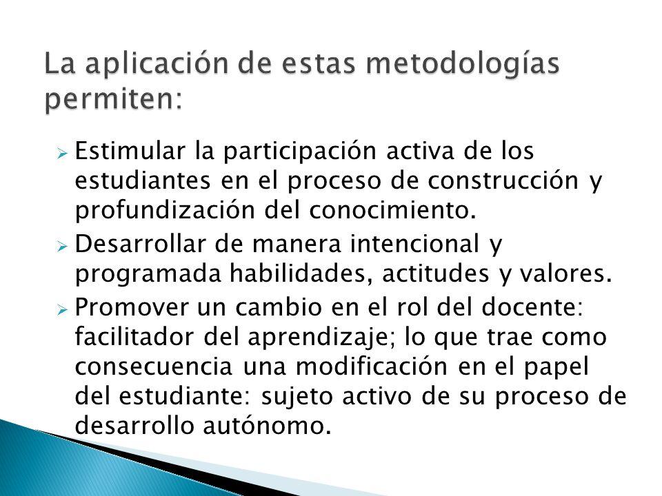 La aplicación de estas metodologías permiten: