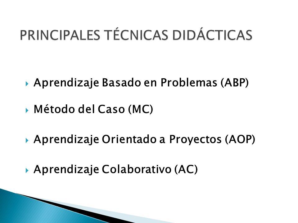 PRINCIPALES TÉCNICAS DIDÁCTICAS