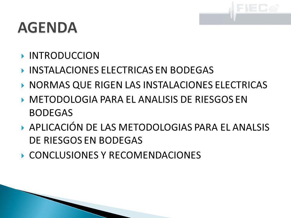 AGENDA INTRODUCCION INSTALACIONES ELECTRICAS EN BODEGAS