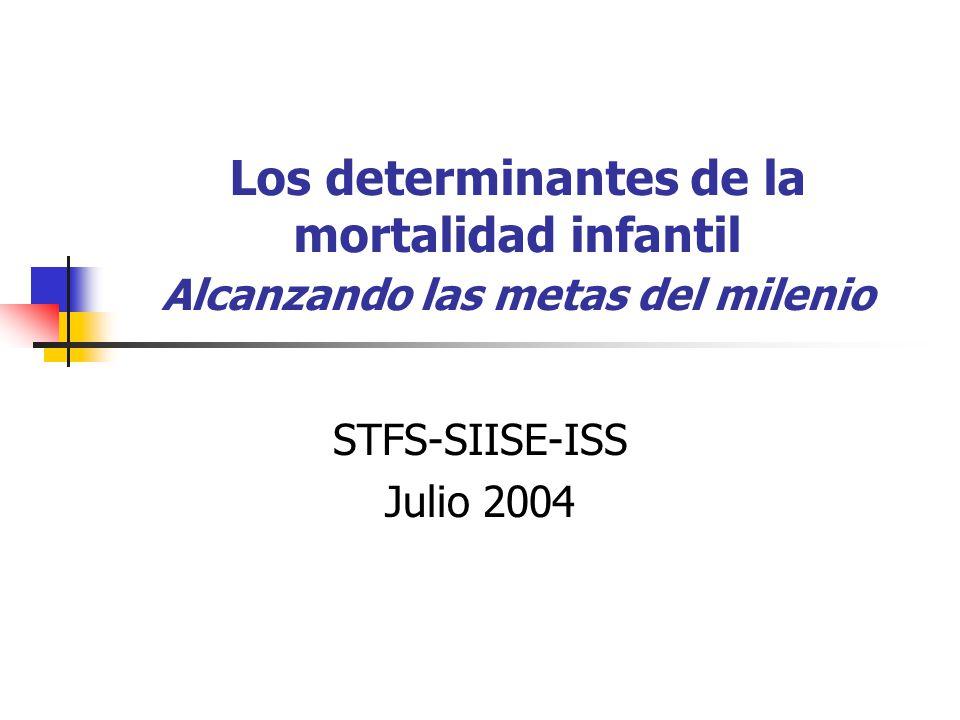 Los determinantes de la mortalidad infantil Alcanzando las metas del milenio