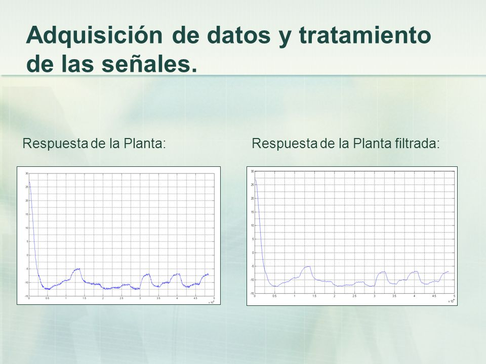 Adquisición de datos y tratamiento de las señales.