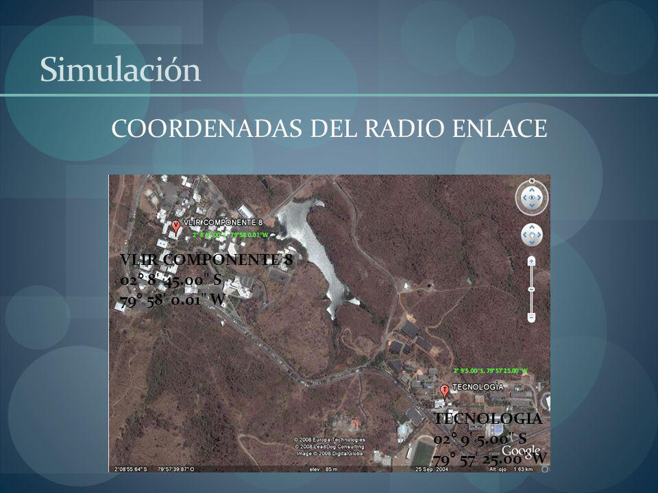 COORDENADAS DEL RADIO ENLACE