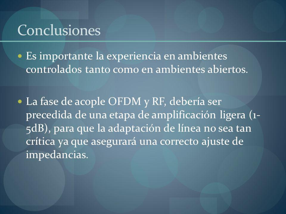 Conclusiones Es importante la experiencia en ambientes controlados tanto como en ambientes abiertos.