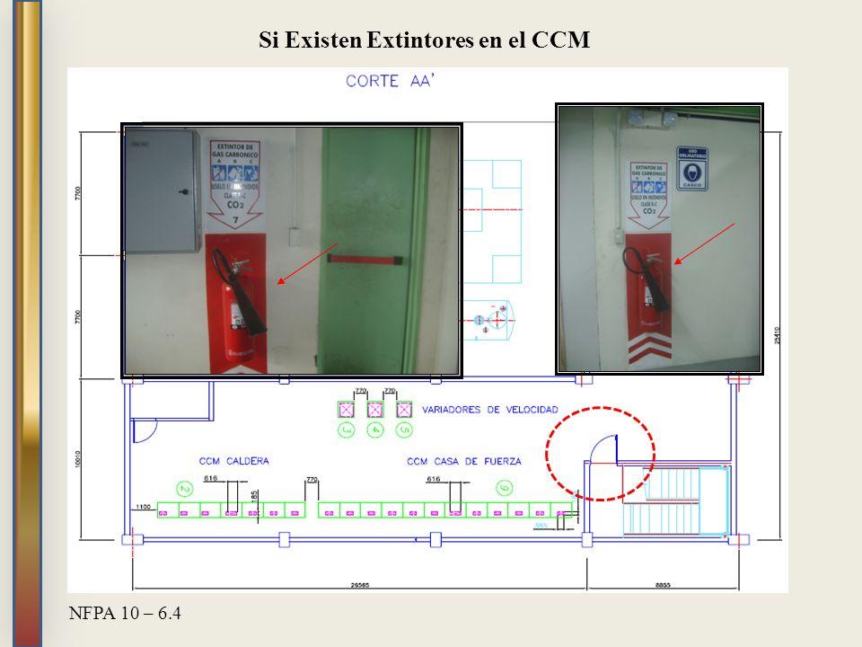 Si Existen Extintores en el CCM
