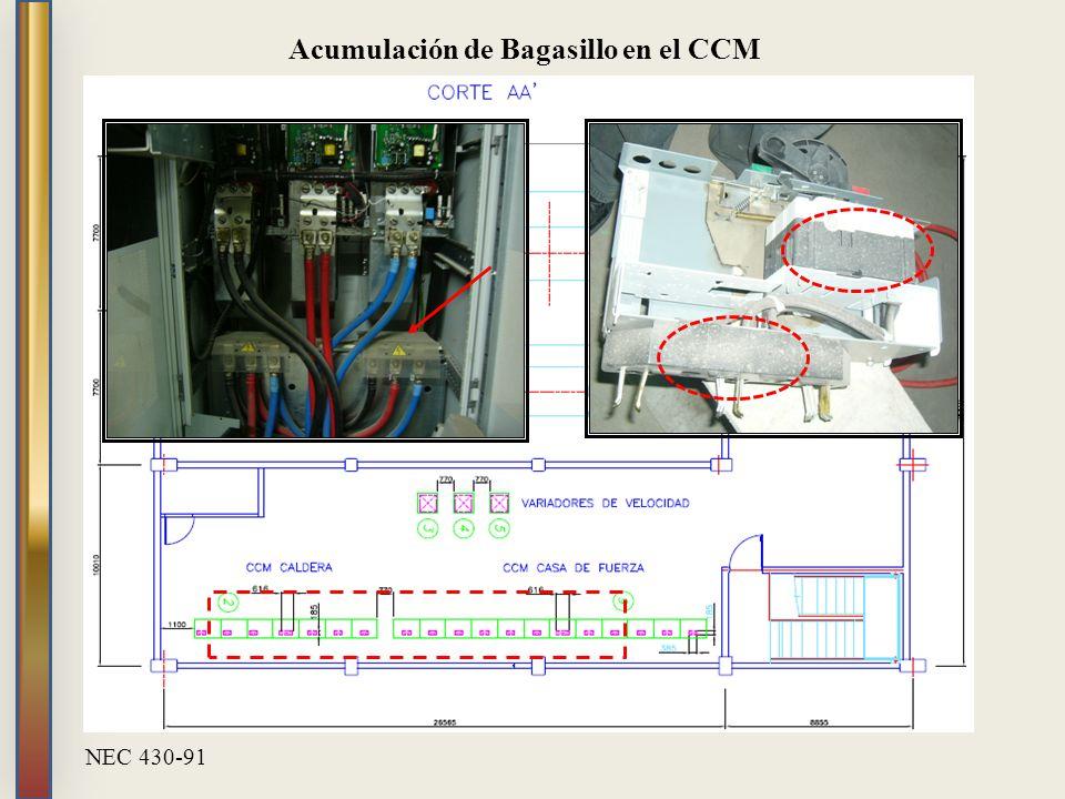 Acumulación de Bagasillo en el CCM