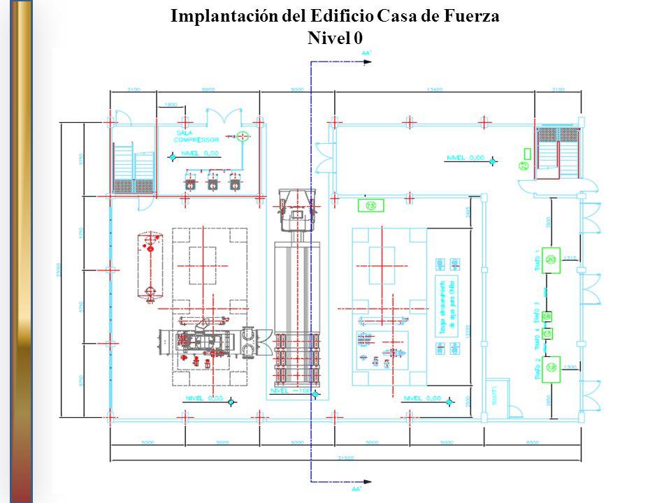 Implantación del Edificio Casa de Fuerza Nivel 0