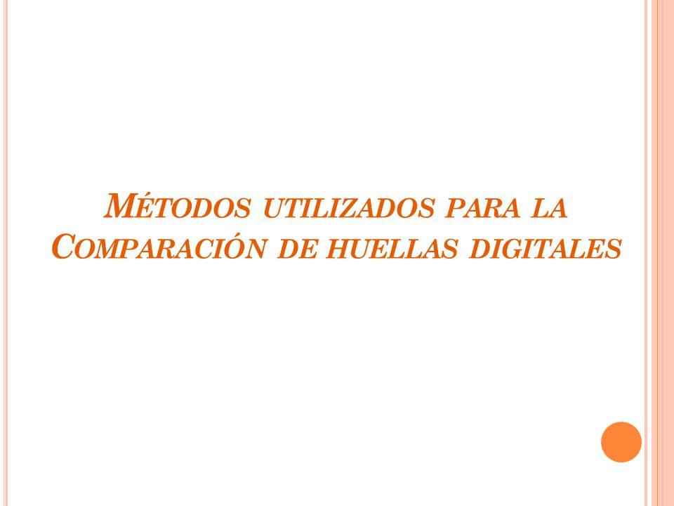 Métodos utilizados para la Comparación de huellas digitales