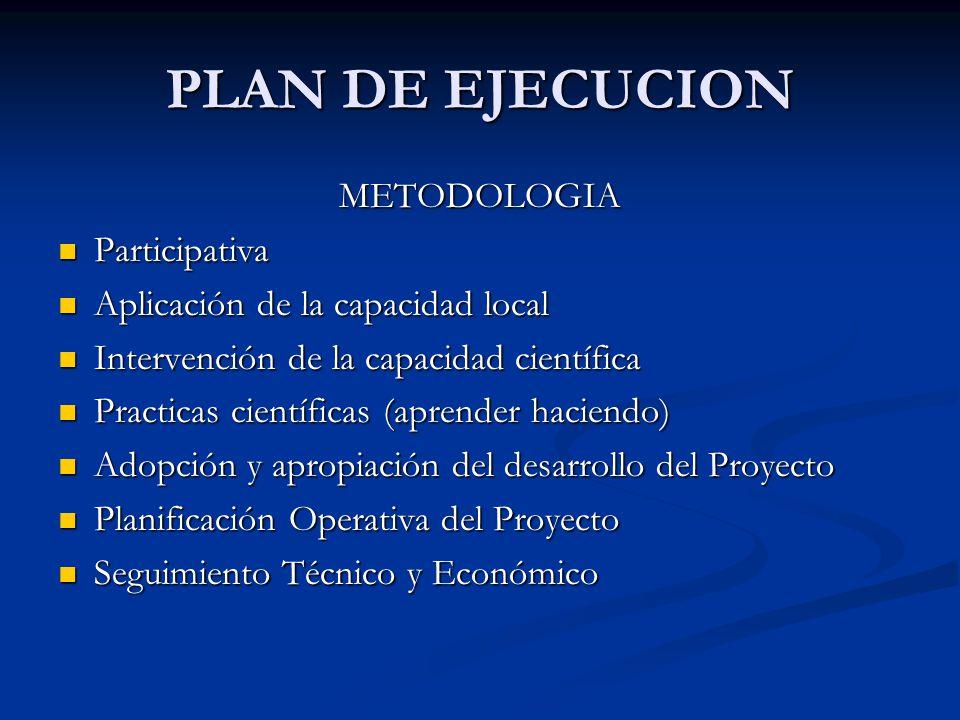 PLAN DE EJECUCION METODOLOGIA Participativa