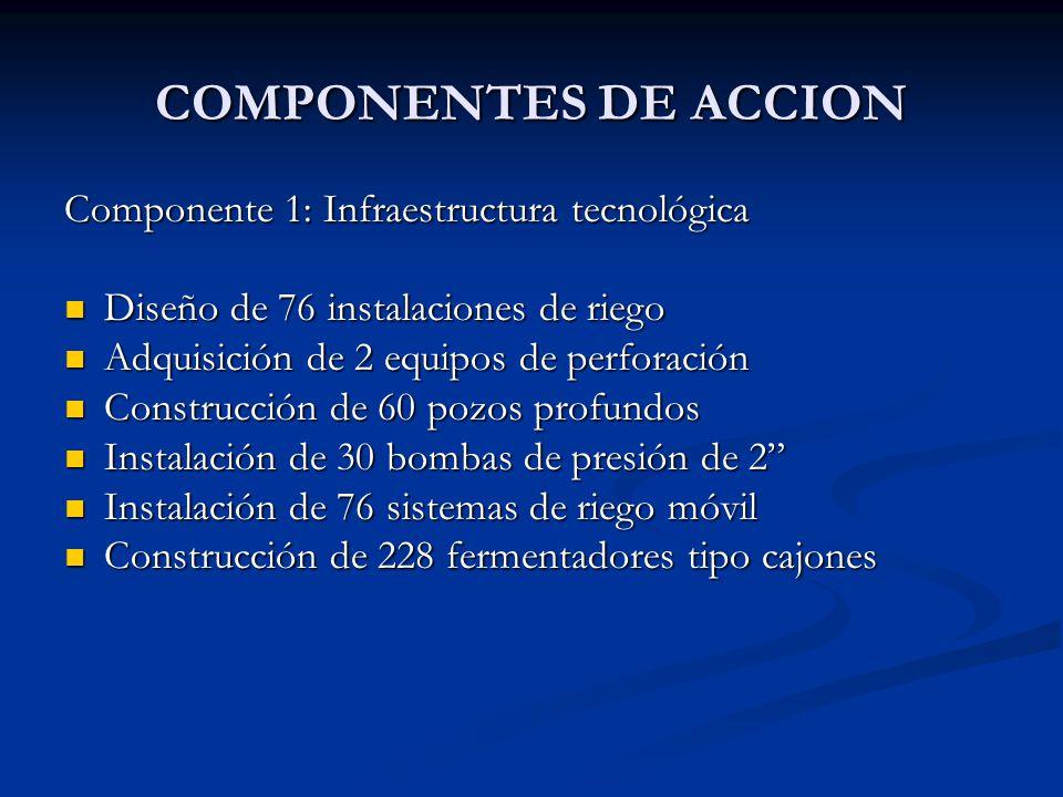 COMPONENTES DE ACCION Componente 1: Infraestructura tecnológica