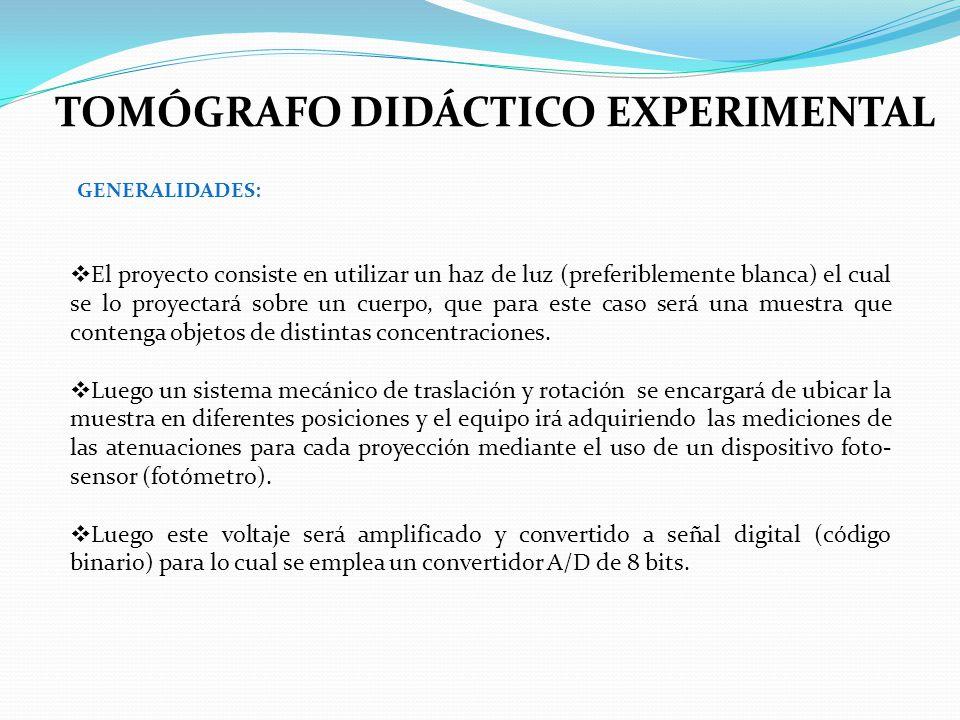 TOMÓGRAFO DIDÁCTICO EXPERIMENTAL