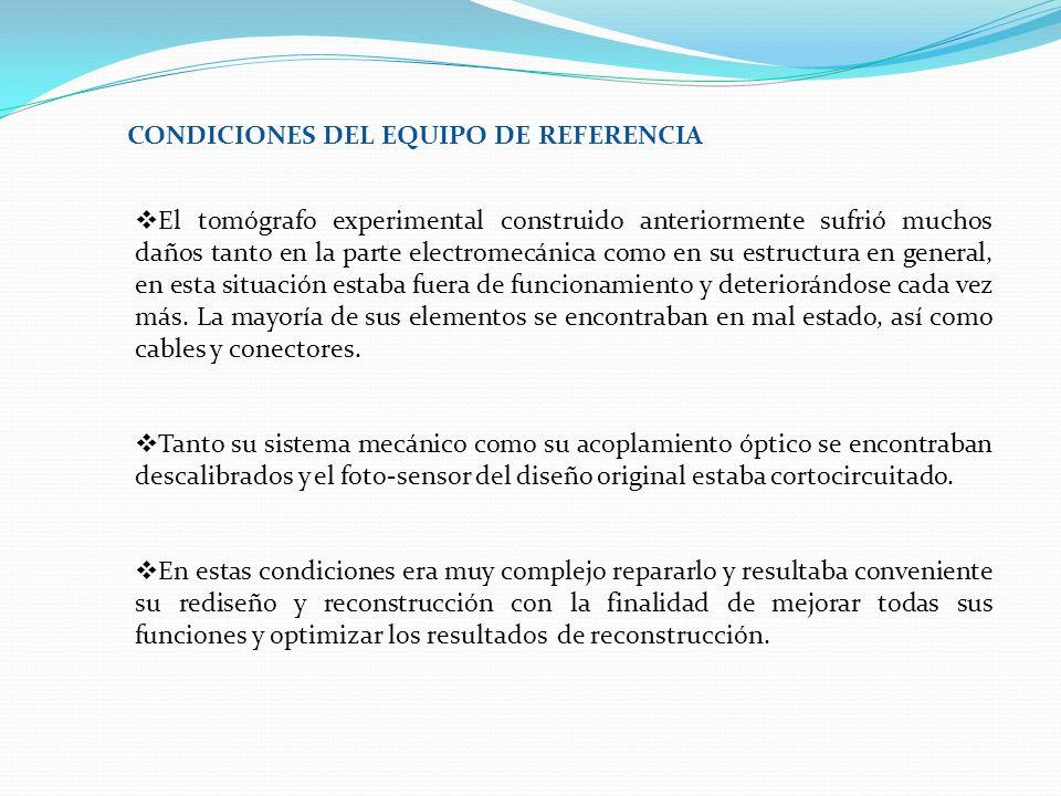 CONDICIONES DEL EQUIPO DE REFERENCIA