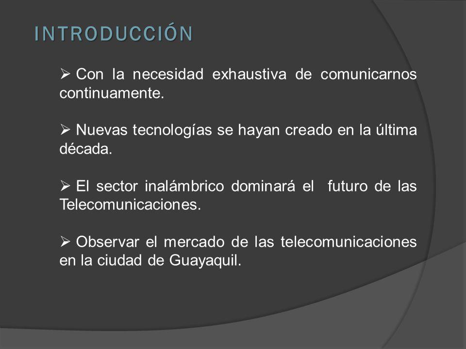 INTRODUCCIÓN Con la necesidad exhaustiva de comunicarnos continuamente. Nuevas tecnologías se hayan creado en la última década.