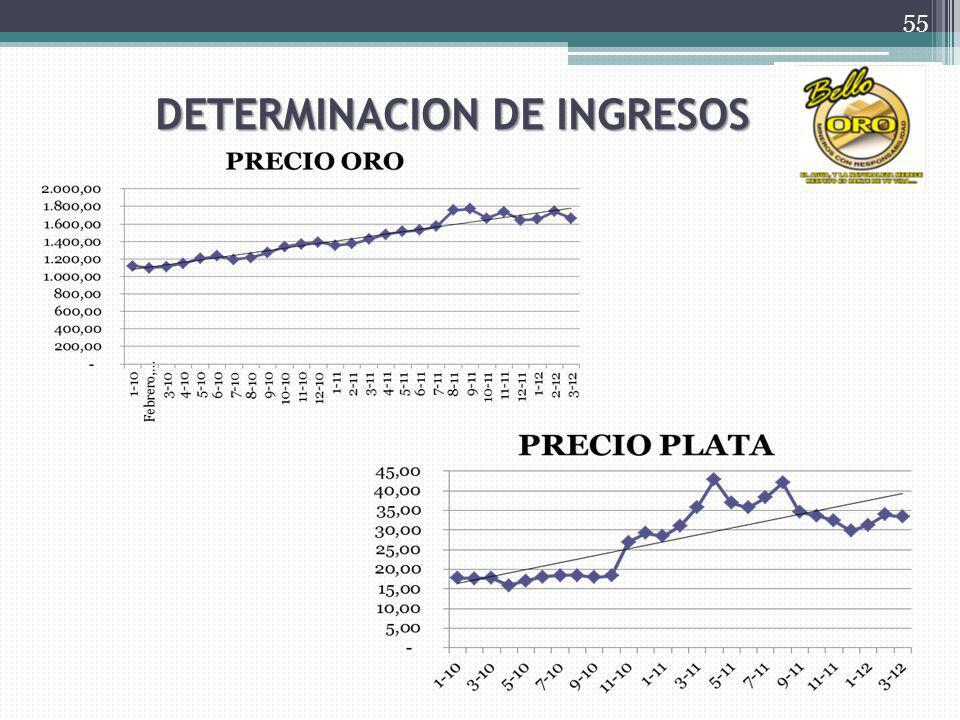 DETERMINACION DE INGRESOS