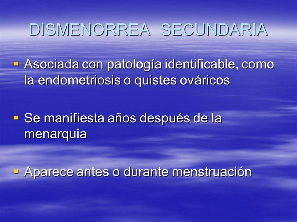 DISMENORREA SECUNDARIA