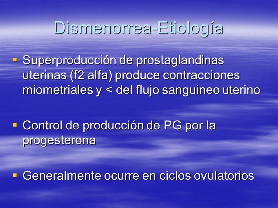 Dismenorrea-Etiología