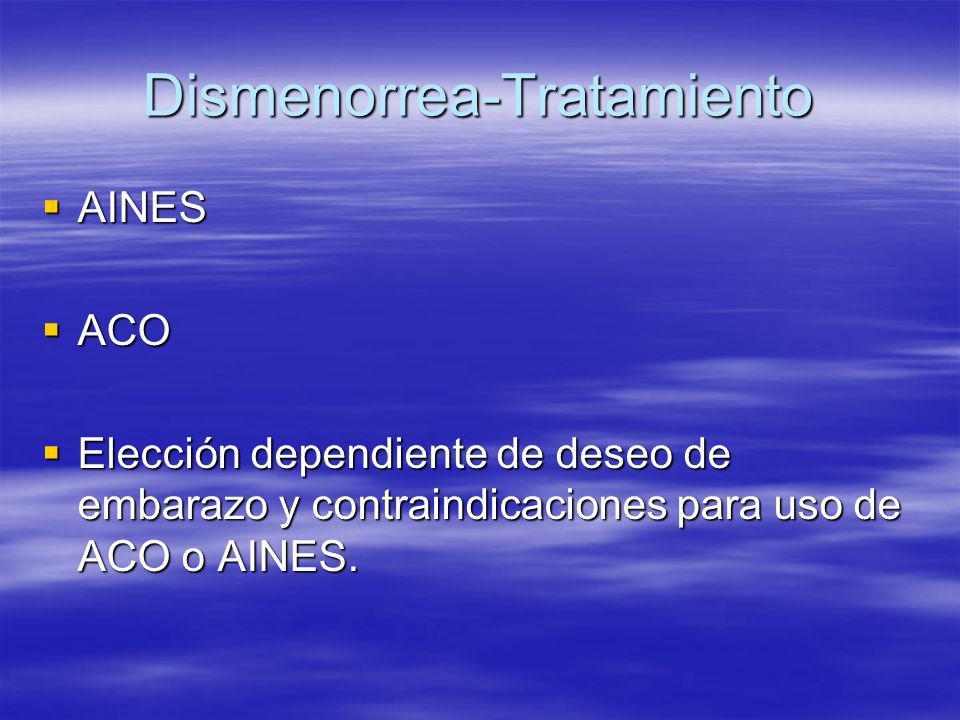 Dismenorrea-Tratamiento