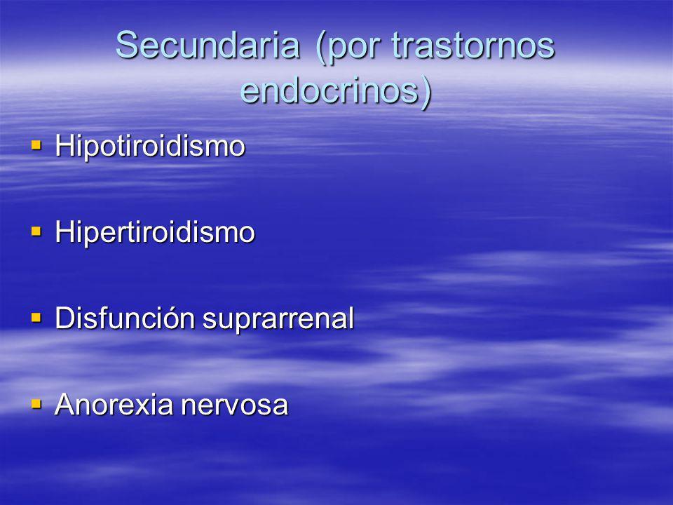 Secundaria (por trastornos endocrinos)