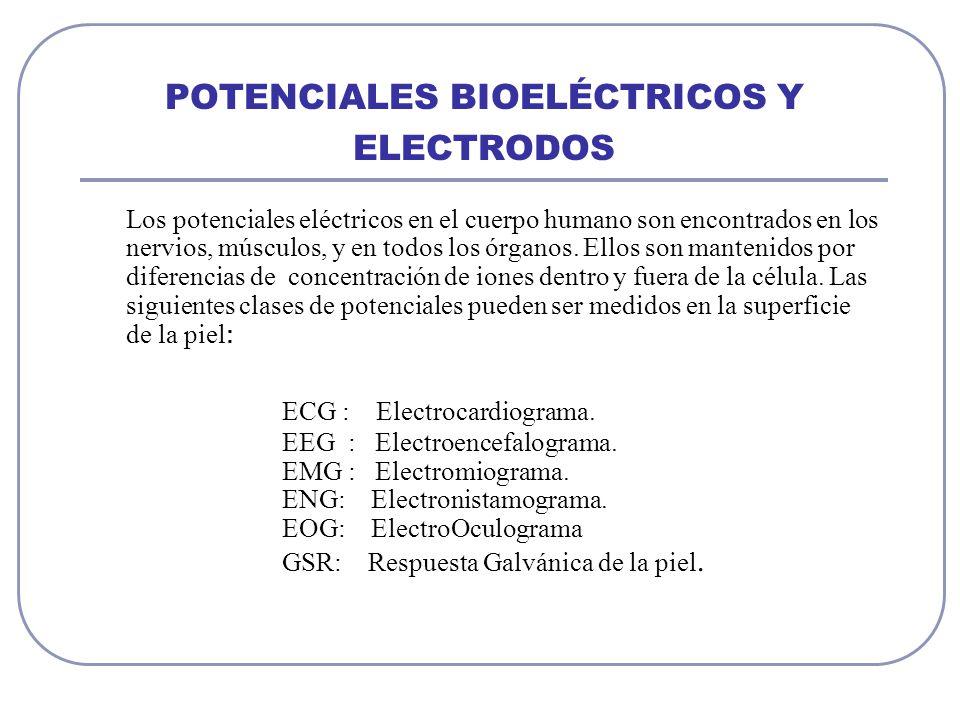 POTENCIALES BIOELÉCTRICOS Y ELECTRODOS