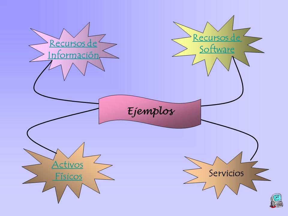 Recursos de Software Recursos de Información Ejemplos Activos Físicos Servicios
