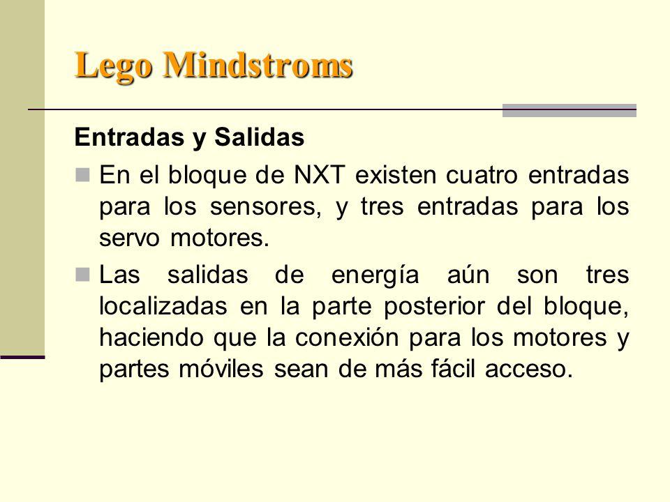 Lego Mindstroms Entradas y Salidas