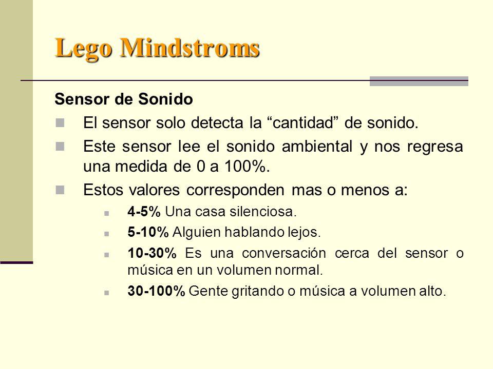 Lego Mindstroms Sensor de Sonido