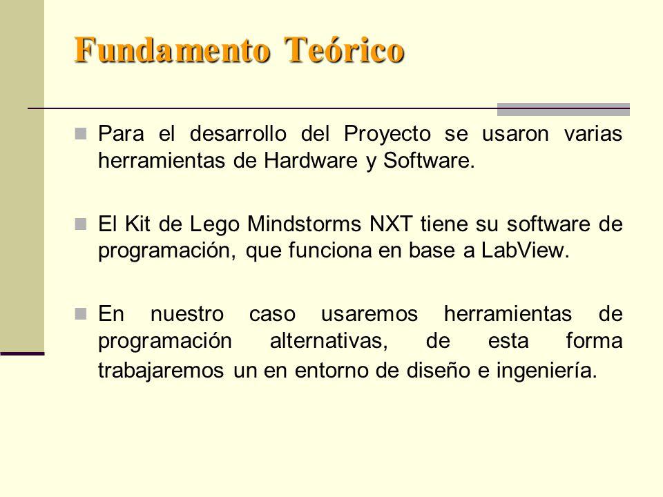 Fundamento Teórico Para el desarrollo del Proyecto se usaron varias herramientas de Hardware y Software.