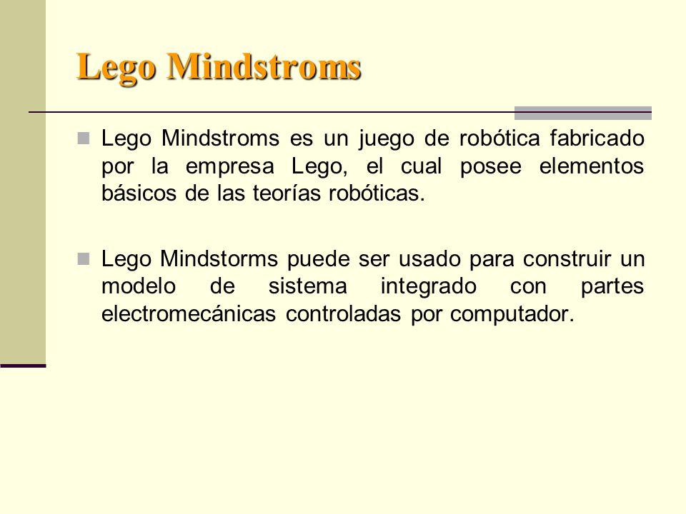 Lego Mindstroms Lego Mindstroms es un juego de robótica fabricado por la empresa Lego, el cual posee elementos básicos de las teorías robóticas.