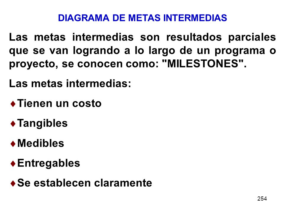 DIAGRAMA DE METAS INTERMEDIAS
