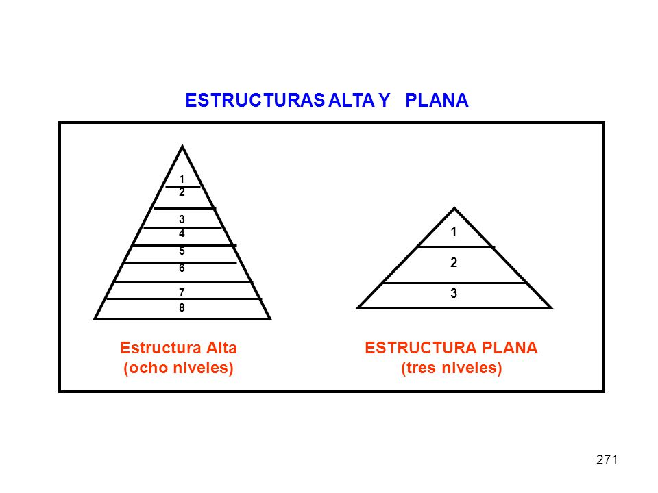 ESTRUCTURAS ALTA Y PLANA