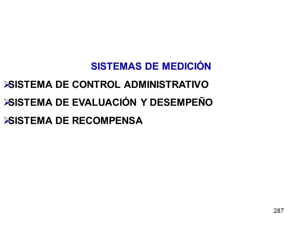 SISTEMA DE CONTROL ADMINISTRATIVO SISTEMA DE EVALUACIÓN Y DESEMPEÑO