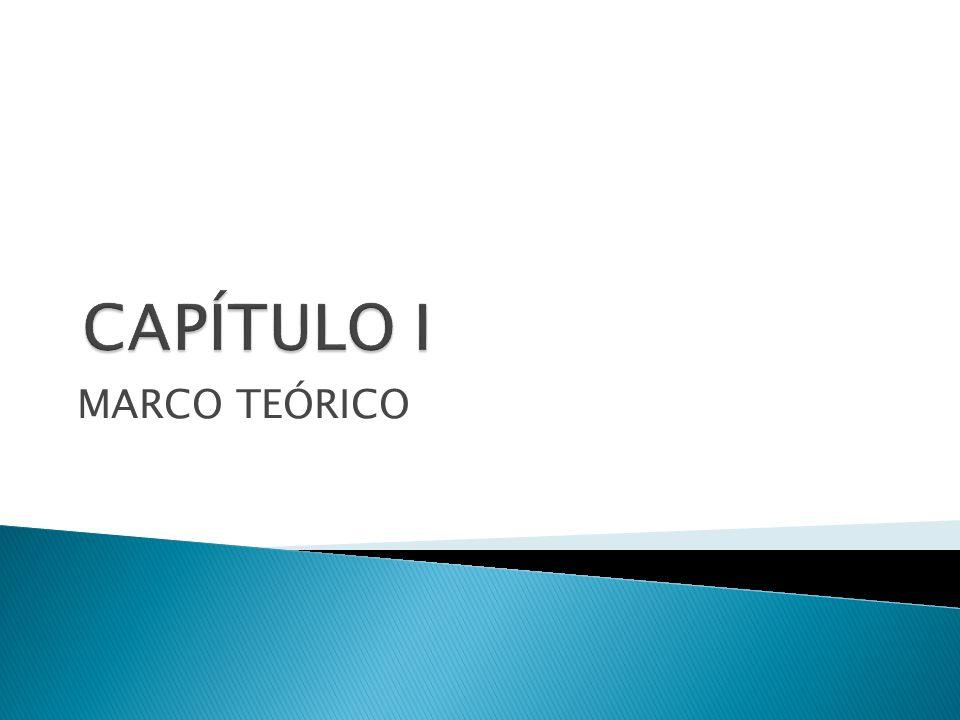 CAPÍTULO I MARCO TEÓRICO