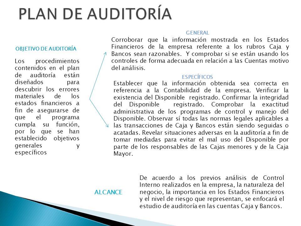 PLAN DE AUDITORÍA GENERAL.