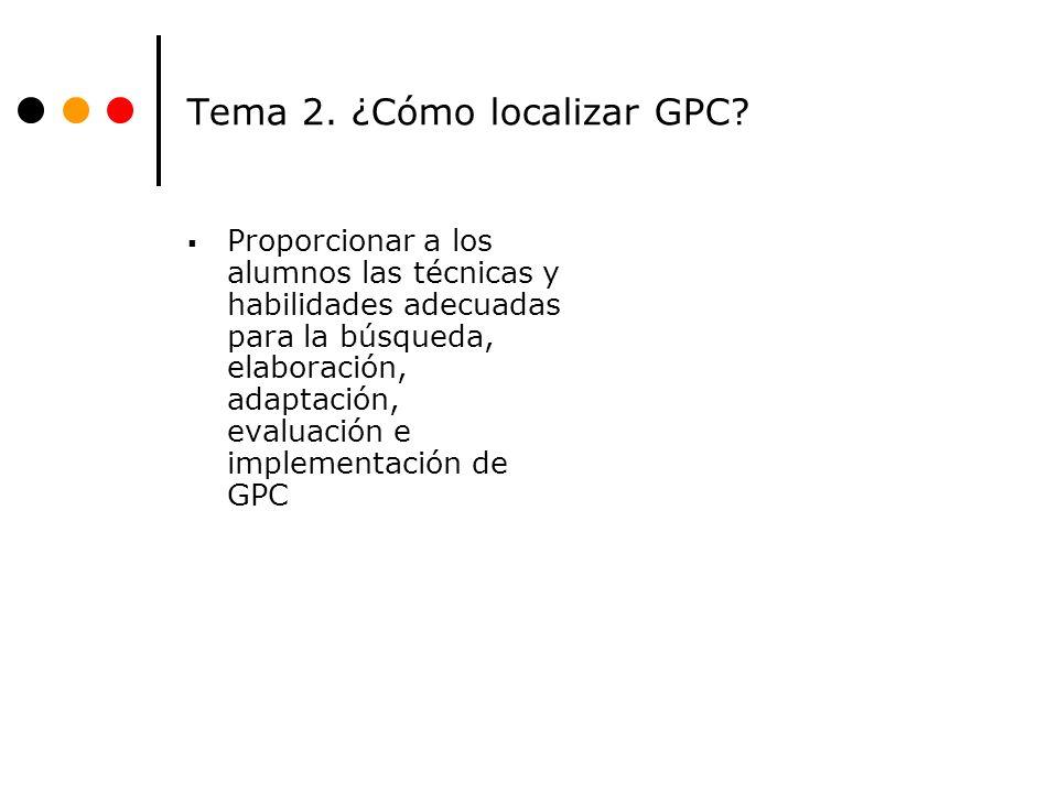 Tema 2. ¿Cómo localizar GPC