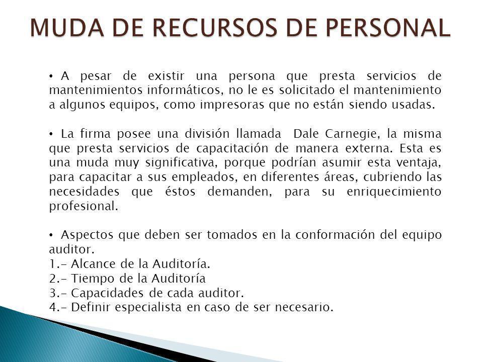 MUDA DE RECURSOS DE PERSONAL