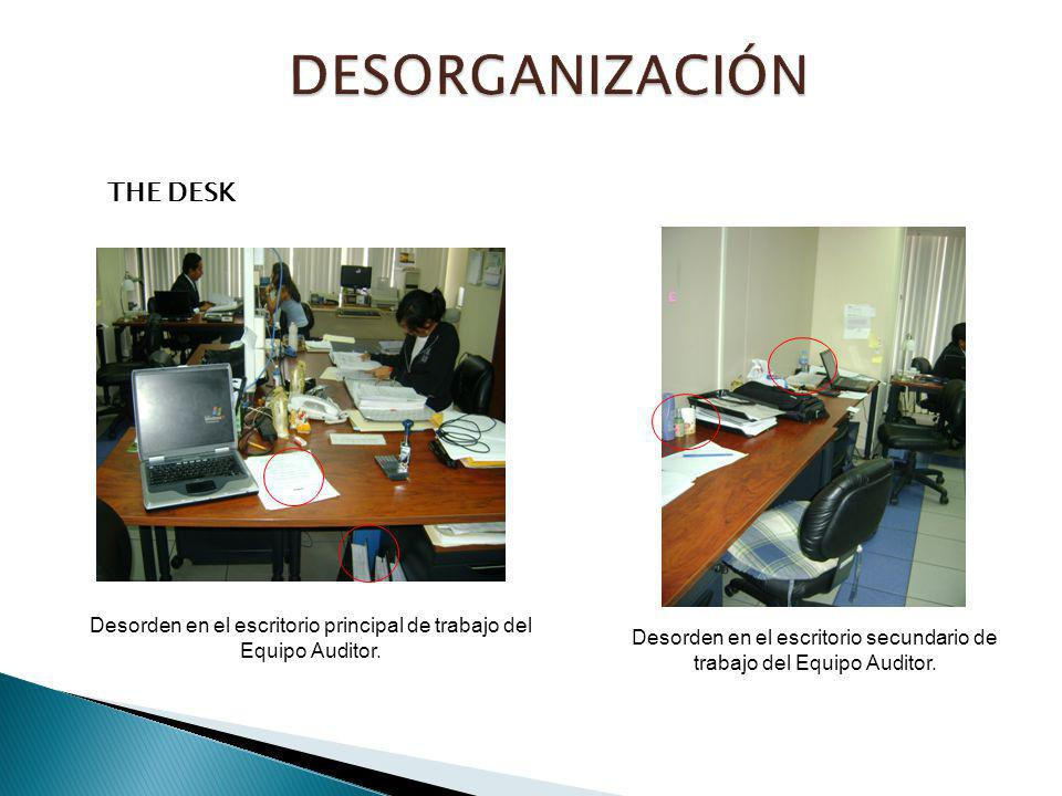 DESORGANIZACIÓN THE DESK