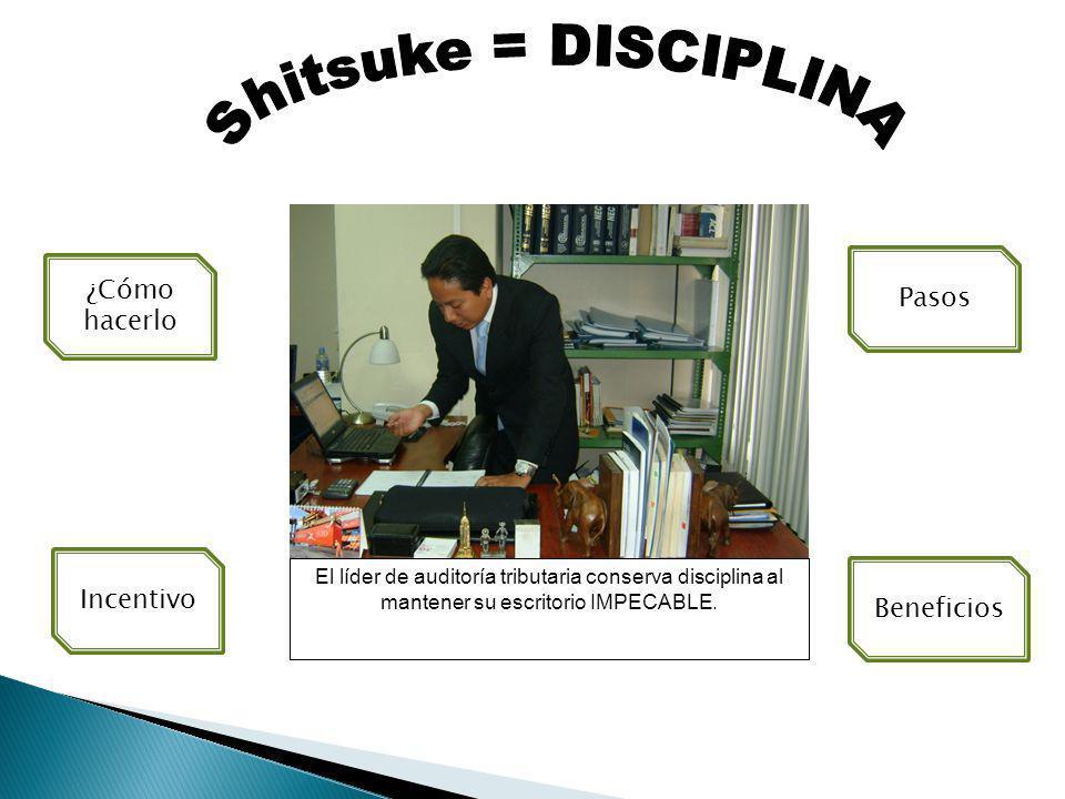 Shitsuke = DISCIPLINA ¿Cómo hacerlo Pasos Incentivo Beneficios