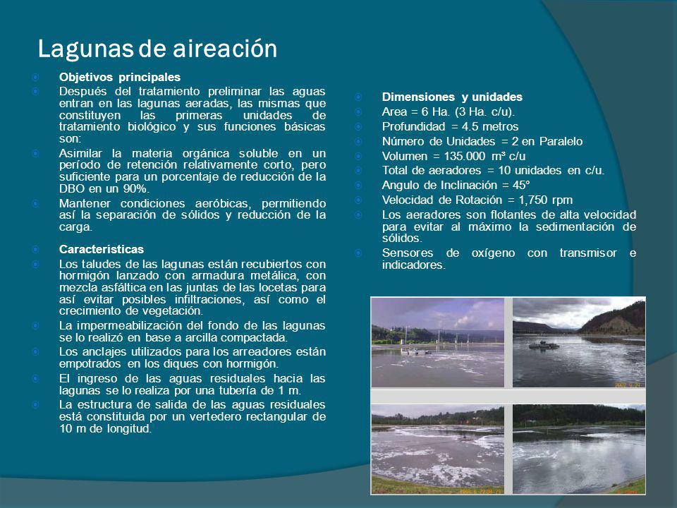 Lagunas de aireación Objetivos principales