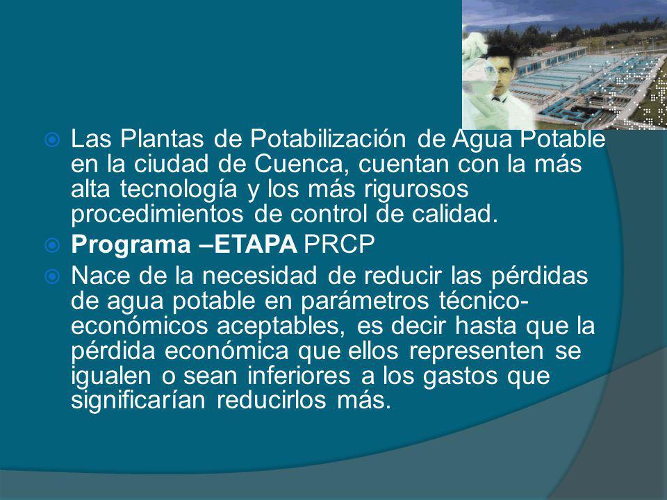 Las Plantas de Potabilización de Agua Potable en la ciudad de Cuenca, cuentan con la más alta tecnología y los más rigurosos procedimientos de control de calidad.