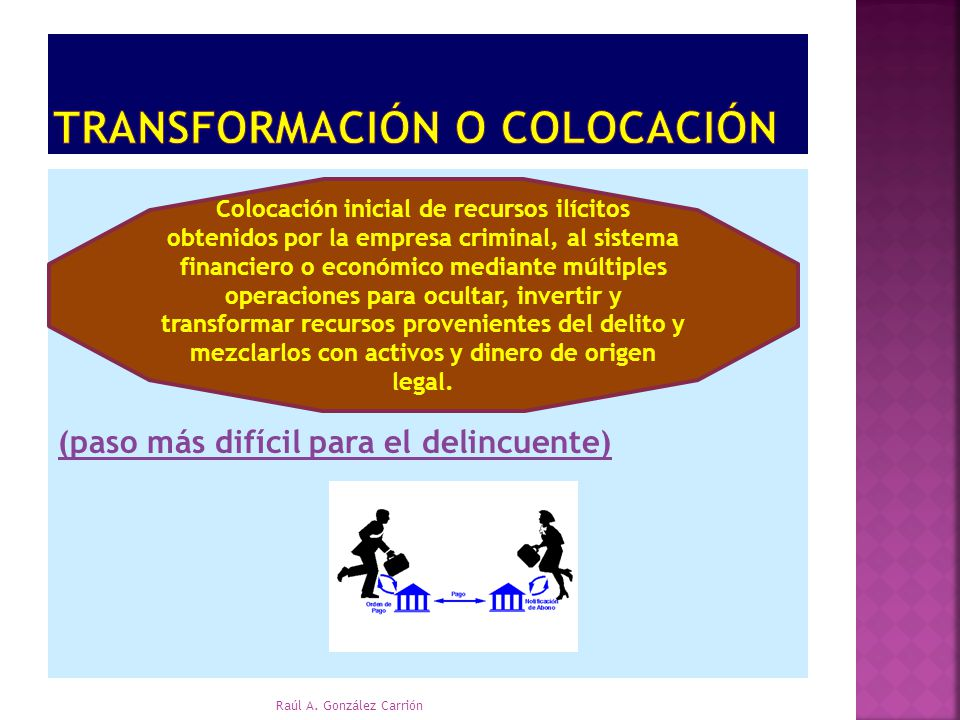 Transformación o colocación