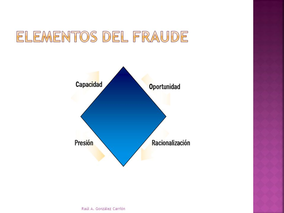 Elementos del fraude Raúl A. González Carrión