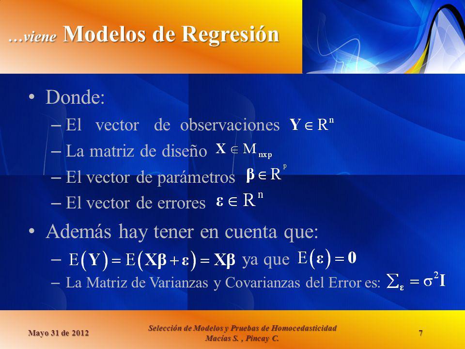 …viene Modelos de Regresión