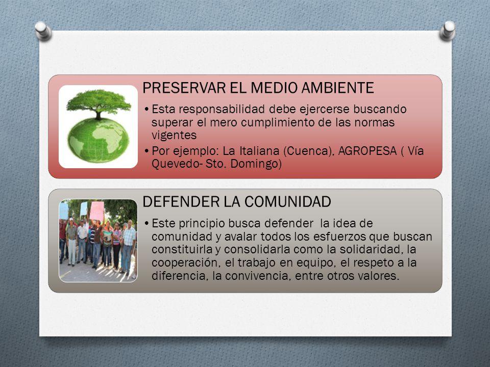 PRESERVAR EL MEDIO AMBIENTE