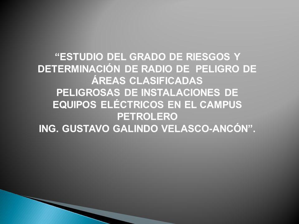 PELIGROSAS DE INSTALACIONES DE ING. GUSTAVO GALINDO VELASCO-ANCÓN .