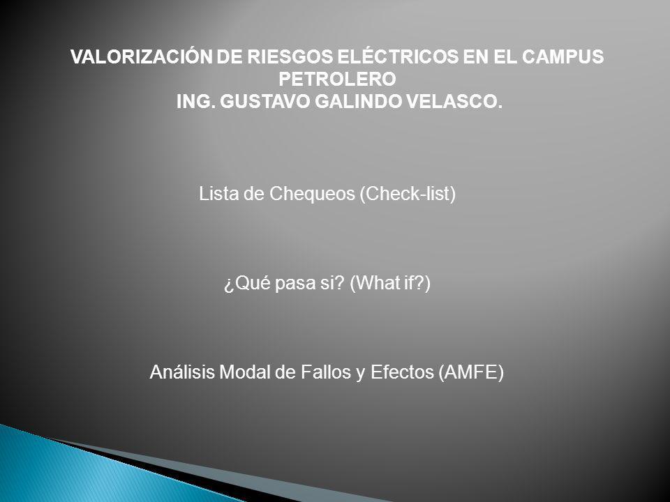 VALORIZACIÓN DE RIESGOS ELÉCTRICOS EN EL CAMPUS PETROLERO